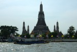 Wat Arun as seen from a boat trip on the Chao Phraya River.