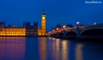 Westminster Bridge at dusk