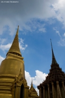 The Grand Palace - The Three Spires - Phra Si Ratana (left) and Phra Mondop (right)