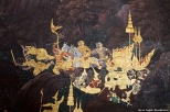 The Grand Palace - Royal Thai Decorations - The Death of Thotsakan
