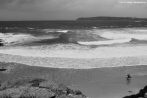 Stormy surf.