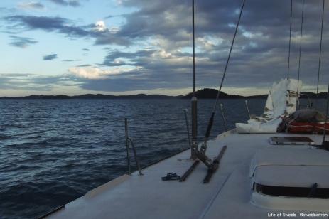 Sunset aboard The British Defender