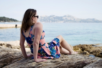 Sasha at Playa de Formentor