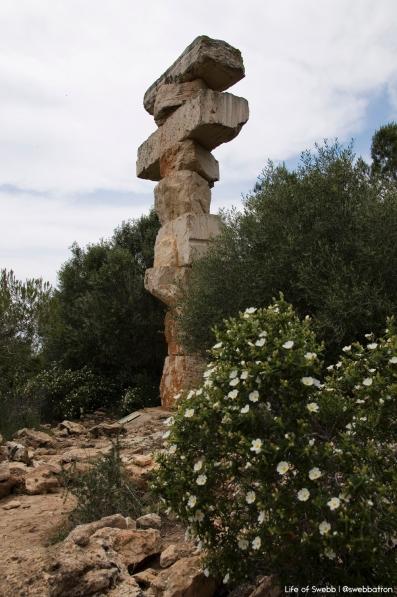 Sculpture near Es Pontas