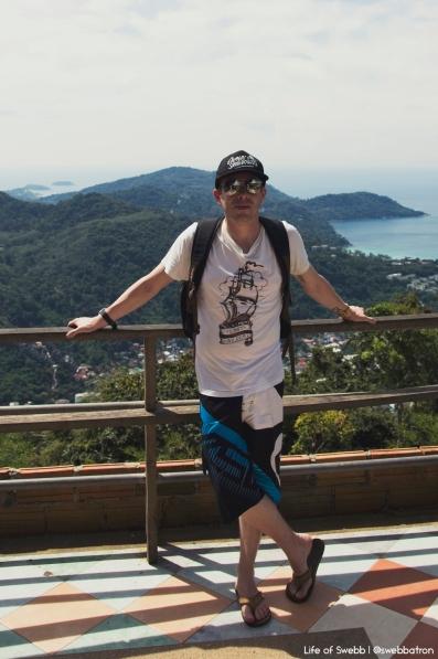 Me at the Big Buddha, Phuket
