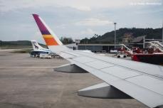 Awaiting take off from Phuket Airport.