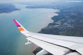 Flying out of Phuket